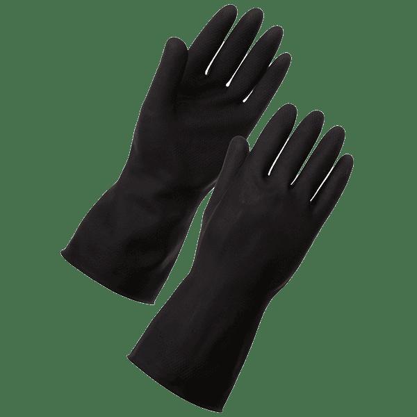 black-rubber-glove-tg06